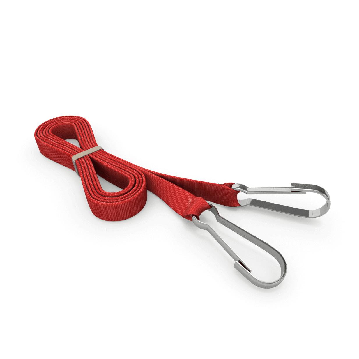 Zugleine mit Karabinerhaken rot